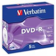 DVD+R Verbatim DLP AZO 16x 4,7GB 5 ks Jewel Silver
