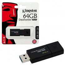 Paměť Flash USB Kingston 16GB DataTraveler DT100 G3  16GB černá 3.0