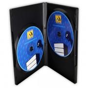 Obal na CD/DVD prezentační 2 disky  černý