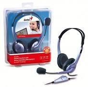 Sluchátka stereo s mikrofonem Genius HS-04S