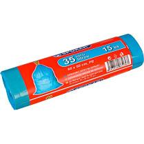 Odpadkové pytle Alufix 35l zatahovací 15 ks, 20µm 60x50cm modré
