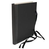 Desky spisové s tkanicí  a hřbetem A4 černé