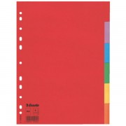 Kartonové barevné rozlišovače Esselte Economy, A4 Mix barev