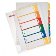 Celoplastové rejstříky Esselte popisovatelné na počítači A4 Maxi Mix barev