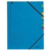 Třídicí desky s gumičkou Leitz A4, 7 dílů Modrá
