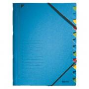 Třídicí desky s gumičkou Leitz A4, 12 dílů Modrá