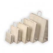 Taška papírová - kroucená ucha   180x80x250mm bílá
