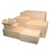 Krabice kartonová klopová 3vr.  195x145x92mm hnědá