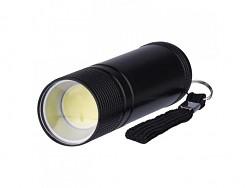 Svítilna kovová LED 3W COB LED 100 lm 3xAAA 1,5V