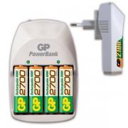 Nabíječka GP PowerBank NITE-LITE + 4x AA(R06) 4xAA/4xAAA Ni-MH