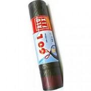 Odpadkové pytle Alufix ECONOMY zatahovací 60L, 10ks 15µm 64x70cm černé
