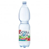 Dobrá voda 1,5L Malina_neperlivá