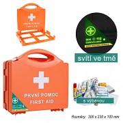 Lékárnička pro 20 osob závěsný plast box oranžová