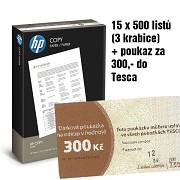 Papír HP COPY 15x500 listů + TESCO (Ticket Compliments) 300Kč A4 80g bílá