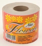 Toaletní papír Flowers Economy 64 rol. 1-vrstvý bílý