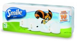 Toaletní papír LUCART SMILE  2-vrstvý bílý 10 rolí