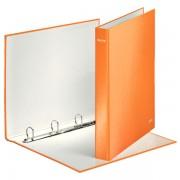 Kroužkový pořadač Leitz WOW 4DR průměru 25mm Metalická oranžová DOPRODEJ!!!