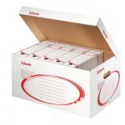 Archivační kontejner Esselte s víkem 10ks + IKEA 100Kč na_krabice i pořadače bílý