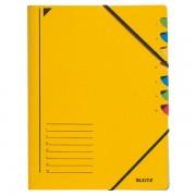 Třídicí desky s gumičkou Leitz A4, 7 dílů Žlutá