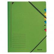 Třídicí desky s gumičkou Leitz A4, 7 dílů Zelená