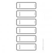 Potisknutelné samolepicí štítky na PC pro pákové pořadače Leitz WOW Šedá 60 ks