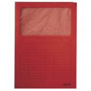 Odkládací desky s okénkem Leitz Červená A4