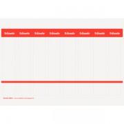 Potisknutelné kartonové štítky na PC pro pákové pořadače Esselte Bílá