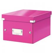 Malá archivační krabice Leitz Click & Store Metalická růžová