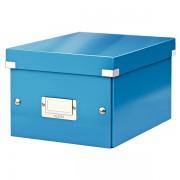 Malá archivační krabice Leitz Click & Store Metalická modrá