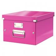 Střední archivační krabice Leitz Click & Store Metalická růžová