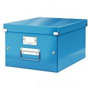 Střední archivační krabice Leitz Click & Store Metalická modrá