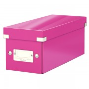 Krabice na CD Leitz Click & Store Metalická růžová