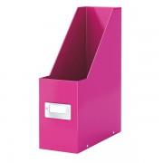 Stojan na časopisy Leitz Click & Store Metalická růžová