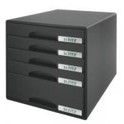 Zásuvkový box Leitz Plus 5 zásuvek Černá