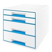 Stolní kostka Leitz WOW se 4 zásuvkami Metalická modrá