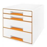 Stolní kostka Leitz WOW se 4 zásuvkami Metalická oranžová