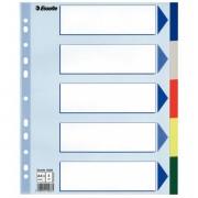 Plastové barevné rozlišovače Esselte, A4 Maxi Mix barev