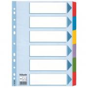 Zesílené kartonové rozlišovače Esselte Mylar, A4 Mix barev 6dílů