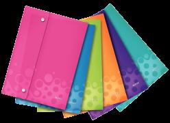 Kapsy s uzavíráním na cvočky Leitz WOW A4 Mix barev 6 ks