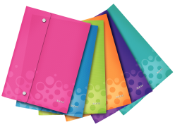 Kapsy s uzavíráním na cvočky Leitz WOW A4 Mix barev