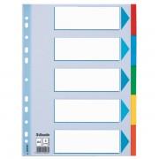 Kartonové barevné rozlišovače Esselte, A4 Mix barev