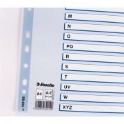 Zesílené kartonové rejstříky Esselte Mylar, A4 Mix barev A-Z