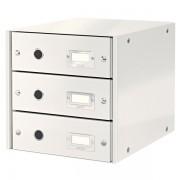 Zásuvkový box Leitz Click & Store se 3 zásuvkami Bílá
