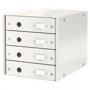 Zásuvkový box Leitz Click & Store se 4 zásuvkami Bílá