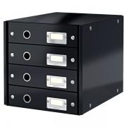 Zásuvkový box Leitz Click & Store se 4 zásuvkami Černá