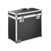 Malý uzamykatelný archivační box Leitz Chromová/Černá