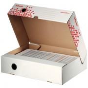Rychle-složitelná horizontální archivační krabice Esselte Speedbox 80 mm Bílá