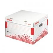 Rychle-složitelný archivační kontejner s víkem Esselte Speedbox velikosti L Bílá