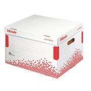 Rychle-složitelný archivační kontejner s víkem na pořadače Esselte Speedbox Bílá