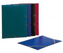 Desky se 3 chlopněmi a gumičkou PP 320x233mm    modré